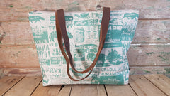 Stowe & so Me Bag. Cape to Karoo in Teal on Stone.