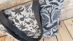 Stowe & so Me Bag. Fevertree in Charcoal on Light Grey.
