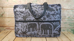 Stowe & so Laptop or Overnight Bag. Fevertree in Charcoal on Dove Grey.