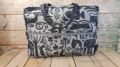 Stowe & so Laptop or Overnight Bag. Fevertree in Charcoal on Light Grey.