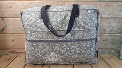 Stowe & so Laptop or Overnight Bag. Exotics in White on Grey.