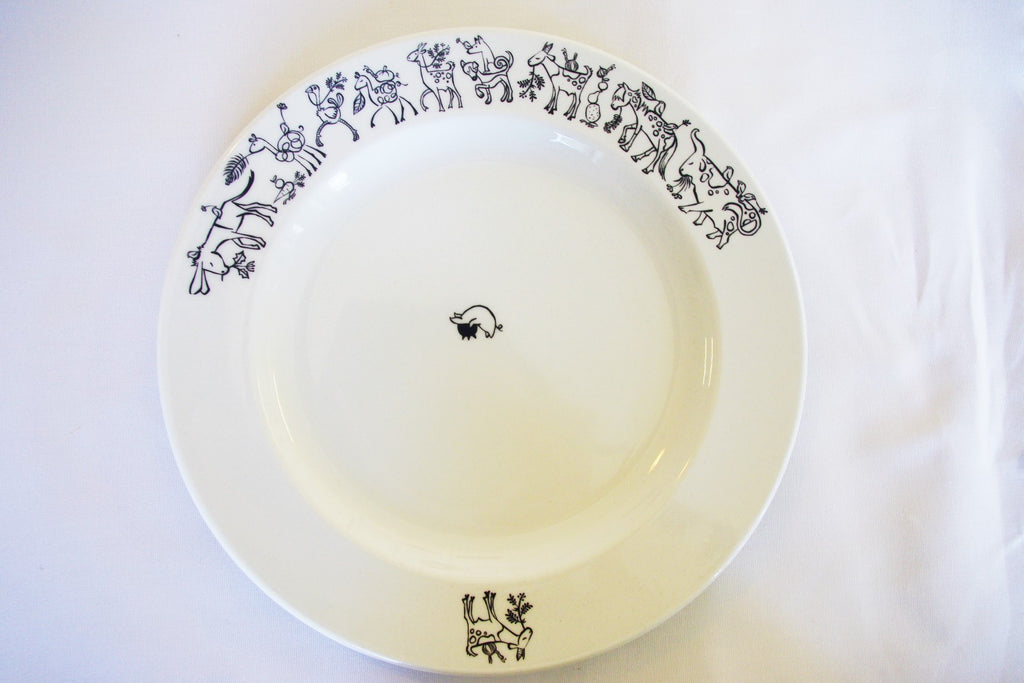 Stowe and so Working Animals Dinner Plate
