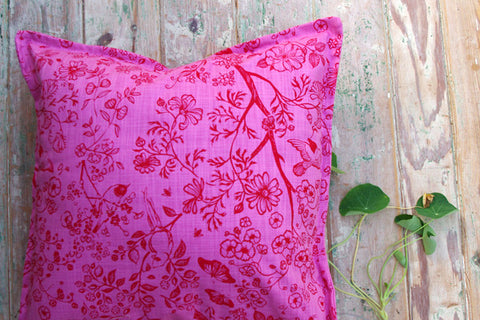 Stowe & so Scatter Cushion. Tea in the Garden