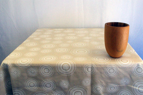 Stowe & so Table Cloth. Ripple. Whitewash on Stone.