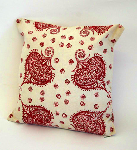 Stowe and so Henna Scatter Cushion with open back: 45cm x 45cm ( Excluding Inner)