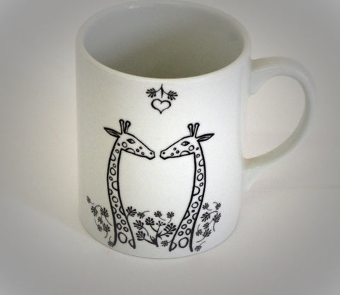 Stowe and so Giraffes in Forest Mug/Cup