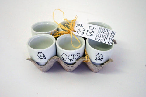 Stowe & so Egg Cups: Chick Design (Set of 6)
