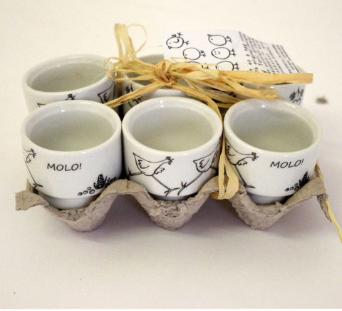 Stowe and so Molo Chicken Egg Cups ( Set of 6)