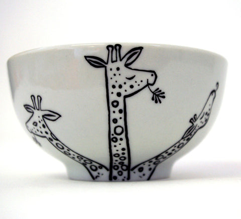 Stowe & so Bowl: Eating Giraffe Design (Small)