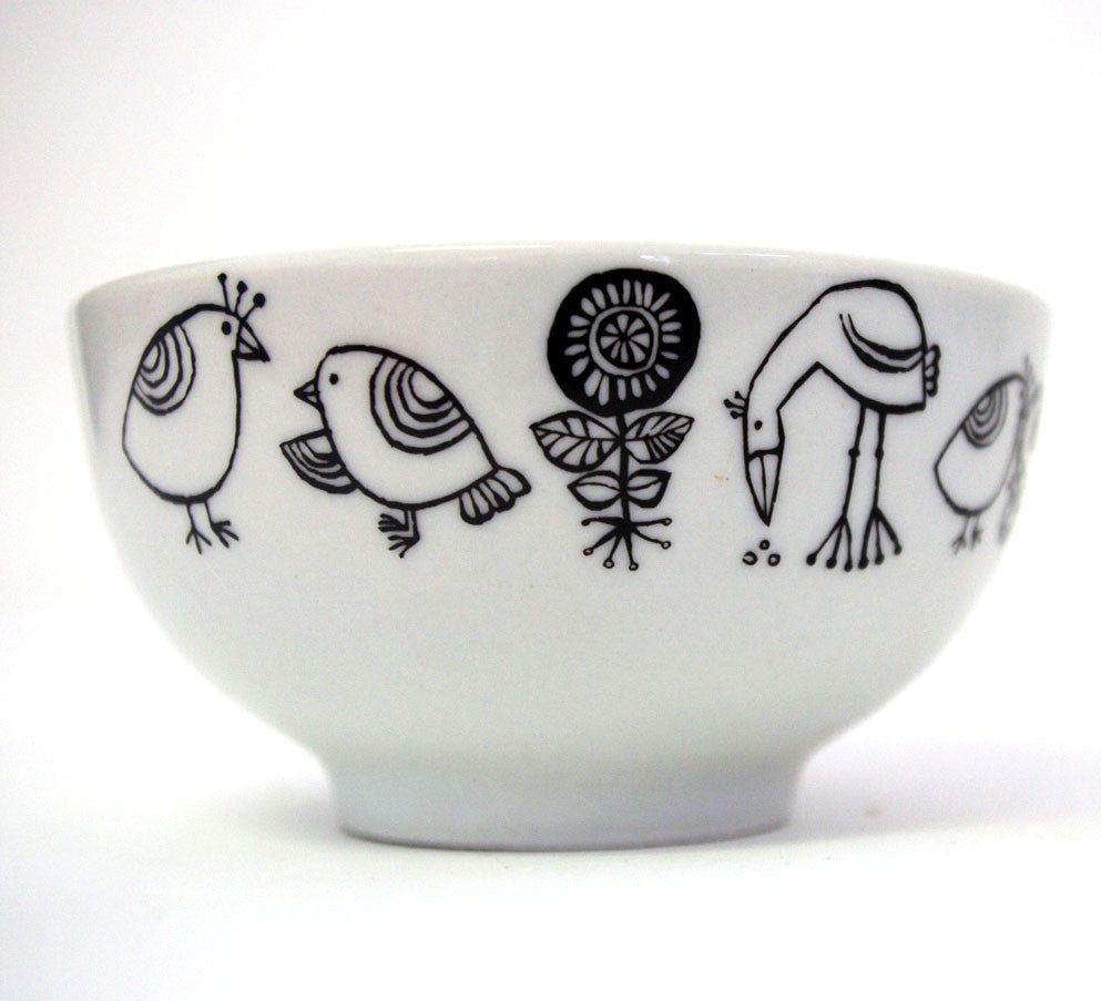 Stowe & so Small Bowl: Birdie Design