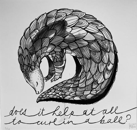 Tori Stowe Art Prints: PANGOLIN BALL