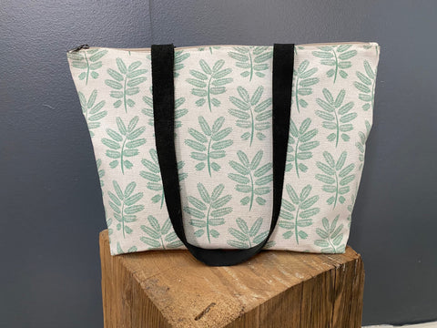 Stowe & so Me Bag. Acacia Leaf Green on Stone.