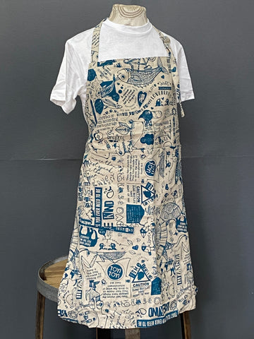 Apron. Philosophy 101 in Denim on Stone.