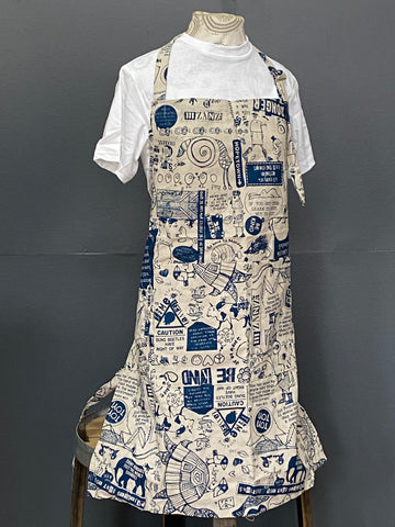 Apron. Philosophy 101 in Wedgewood on Stone.