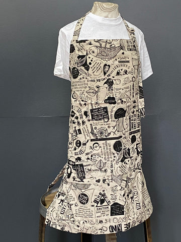 Apron. Philosophy 101 in Charcoal on Stone.