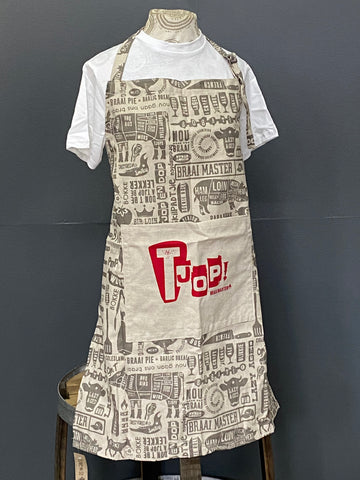 Braaimaster Apron. Tjop in Grey.