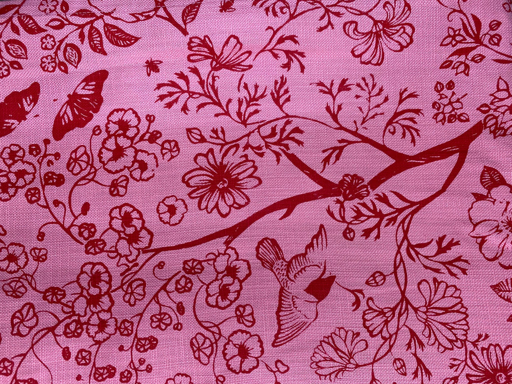 3m Stowe & so Table Cloth. Tea in the Garden in Pinks.