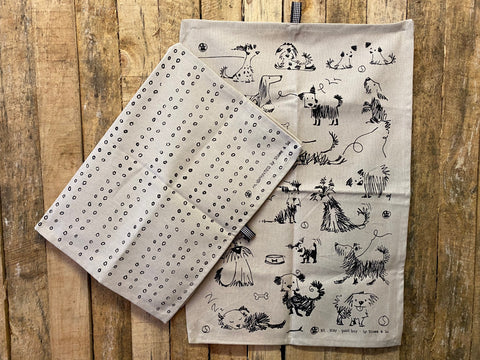 Stowe & So Tea Towel Set: Sketchy Dogs