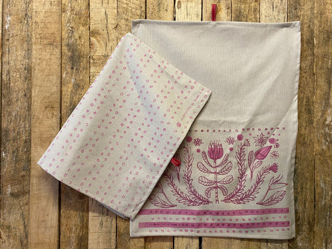 Stowe & So Tea Towel Set: Folksy