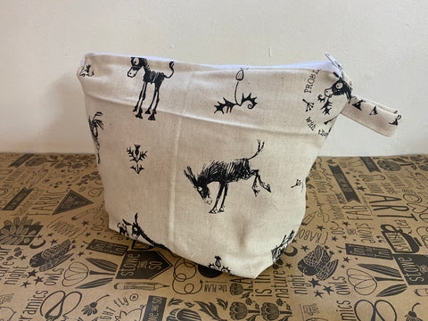 Stowe & so Oversized Toiletry/Cosmetic Bag. Donkey.