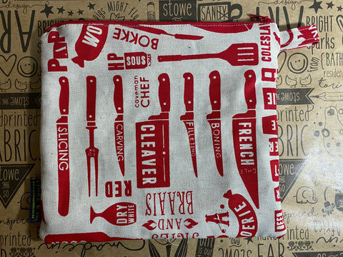 Stowe & so Large Pencil Case. Braaimaster in Red.