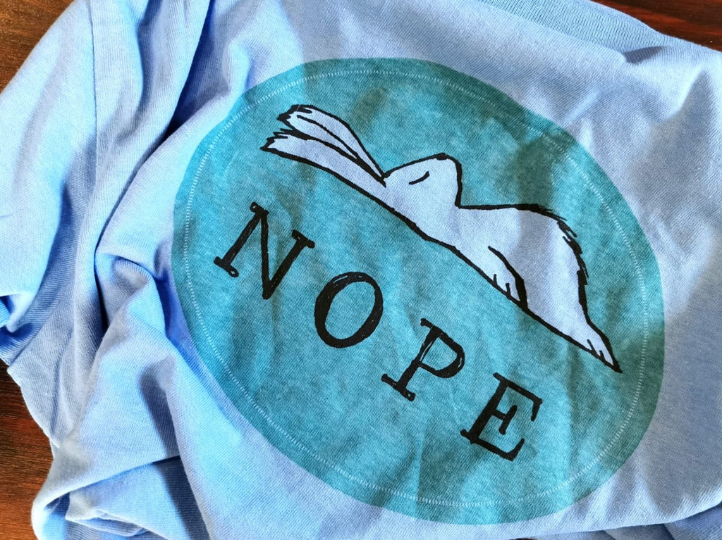 NOPE T-Shirt in Sky Blue.