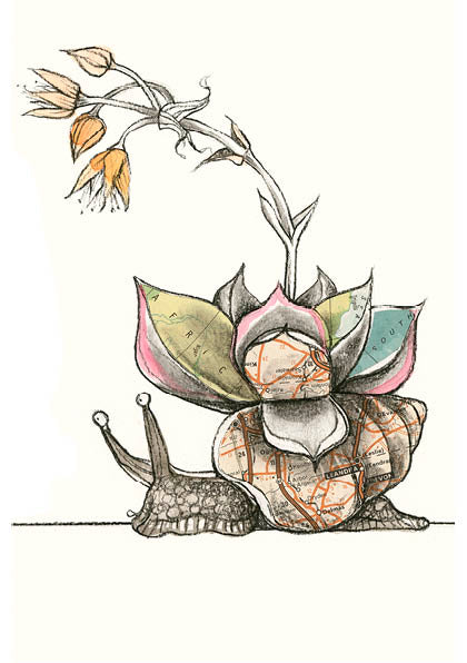 Tori Stowe A5 Art Prints: SMALL WORLD AFRICAN LAND SNAIL