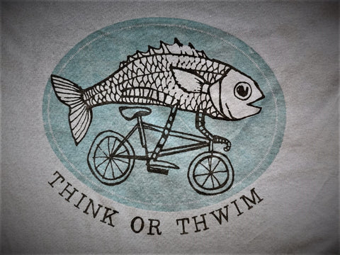 """Think or Thwim"" T-Shirt Dark Grey Shirt"