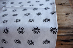 Stowe & so Table Cloth. Acacia Blossom Charcoal on Stone.