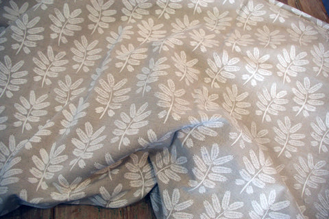 Stowe & so Table Cloth. Acacia Leaf Whitewash on Stone.