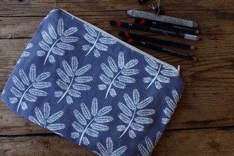 Stowe & so Pencil Case. Acacia Leaf.