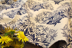 Stowe & so Table Cloth. Blackjack Cobalt on Stone.