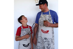 Braaimaster Apron. Boerie and Worsie Aprons. Set of 2.