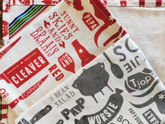 Stowe & so Tea Towel. Set of Two Braaimaster Lappies.