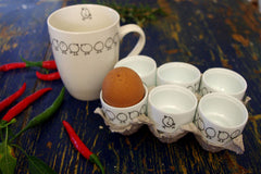 Stowe & so Set of 6 Egg Cups Chicks Design
