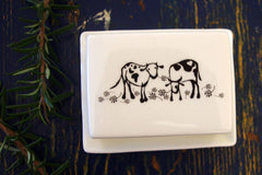 Stowe & so Butter Dish Nguni Design