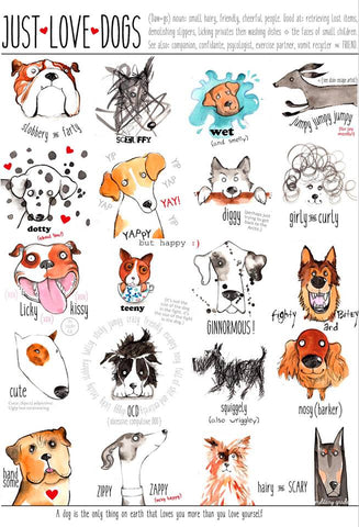 LOVEDOGS: A poster for the love of dogs by Tori Stowe