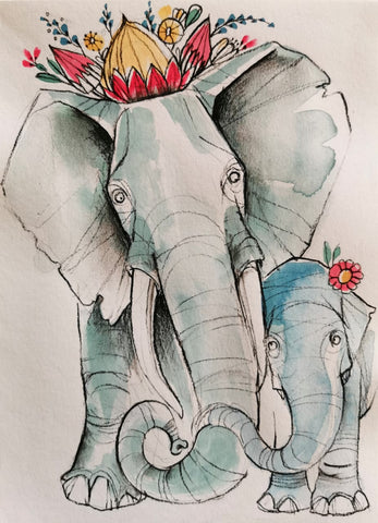 Mother's Day Series Originals: Elephant
