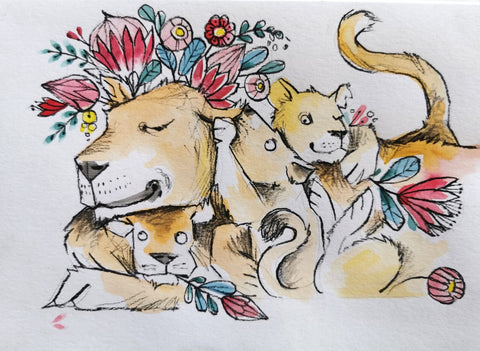 Mother's Day Series Originals: Lion 1