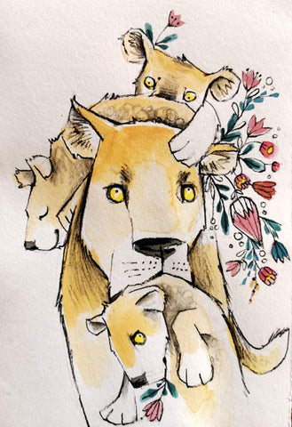 Mother's Day Series Originals: Lion