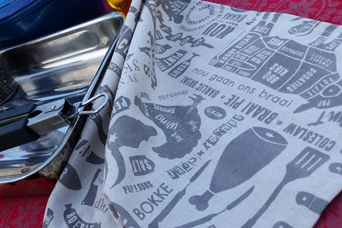 Braaimaster Tea Towel - Lappie. Set of Two.