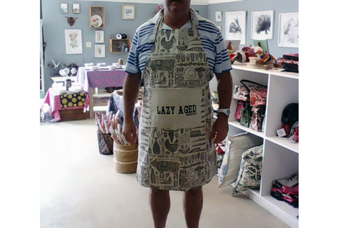 Braaimaster Apron. Lazy Aged for the Ou-Toppies!
