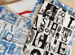 Stowe & So Tea Towel Set: Letterset Black