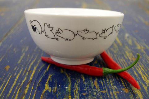Stowe & so Ceramic Bowl Poitjie Pig