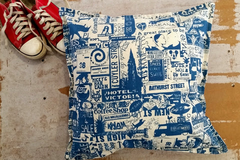Stowe & so Scatter Cushion. Grahamstown Design.