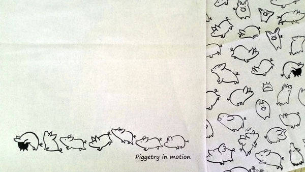Piggetry Tea Towels: Set of 2