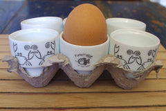 Stowe & so Set of 6 Egg Cups Crab Design
