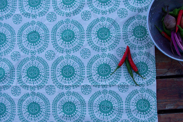 Stowe & so Table Cloth. Protea Pattern.