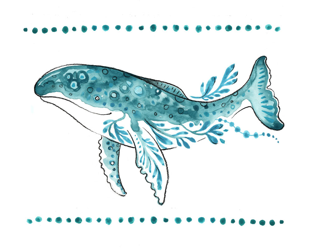 Tori Stowe A5 Print: Who the Whale