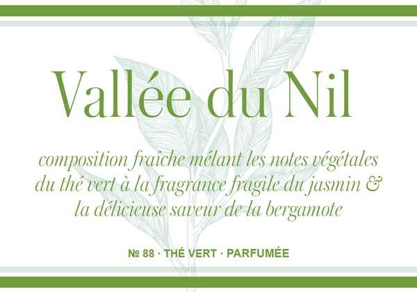 Vallée du Nil (aux notes Jasmin et Bergamote)